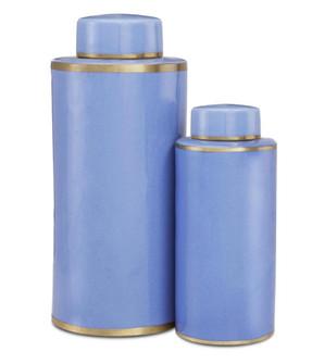 Blue Tea Canister Set of 2 (92|1200-0415)