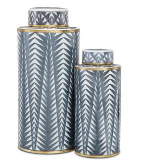 Art Deco Tea Canister Set of 2 (92|1200-0412)