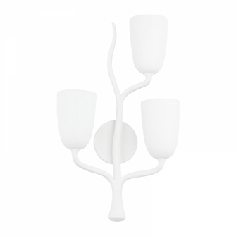 3 LIGHT RIGHT WALL SCONCE (57 5003-R-WP)
