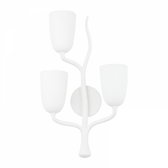 3 LIGHT LEFT WALL SCONCE (57 5003-L-WP)