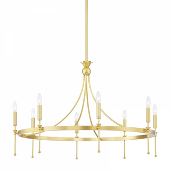 8 LIGHT CHANDELIER (57 4338-AGB)