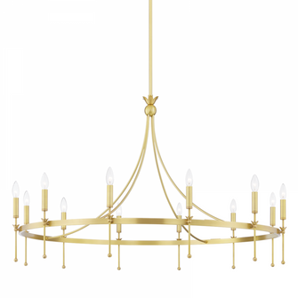 12 LIGHT CHANDELIER (57 4351-AGB)