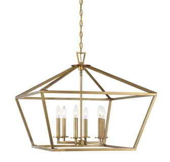 Townsend 6 Light Warm Brass Lantern (128 3-325-6-322)