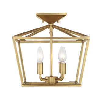 Townsend 4 Light Warm Brass Semi-Flush Mount (128 6-328-4-322)