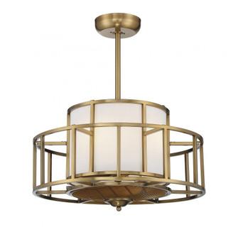 Oslo 4 Light Warm Brass Fan D Lier (128|30-FD-126-322)