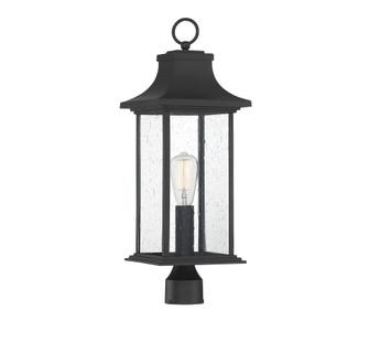 Hancock Matte Black 1 Light Outdoor Post Lantern (128 5-454-BK)