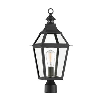 Jackson Black With Gold Highlighted 1 Light Outdoor Post Lantern (128 5-724-153)