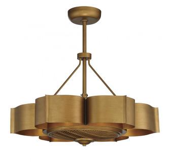 Stockholm 6 Light Gold Patina Fan D Lier (128|39-FD-125-54)