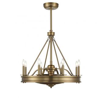 Lyon 8 Light Warm Brass Fan D Lier (128|39-FD-124-322)