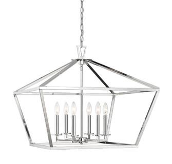 Townsend 6 Light Polished Nickel Lantern (128 3-325-6-109)