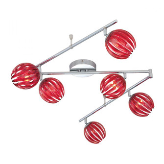 COSMO,6LT TRACK,CHROME,RED (4304|23208-025)