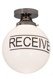 10''W Personalized ''Receive'' Deli Orb Flushmount (96 186574)