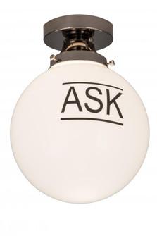 10''W Personalized ''Ask'' Deli Orb Flushmount (96 186573)