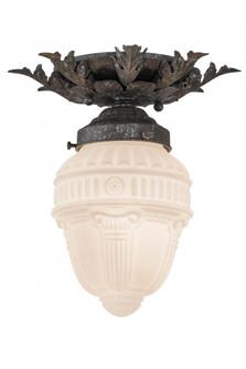 8.5''W Fancy Floral W/Colonnade Globe Flushmount (96 169001)