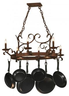 36'' Long Handforged Oval 6 Light Pot Rack (96|149135)