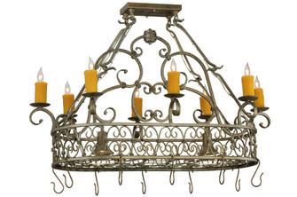 40'' Long Cira Oblong Lighted Pot Rack (96|137411)