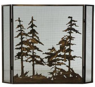 51''W X 40.5''H Tall Pines Fireplace Screen (96|124964)