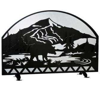 48''W X 32''H Bear Creek Arched Fireplace Screen (96|112054)