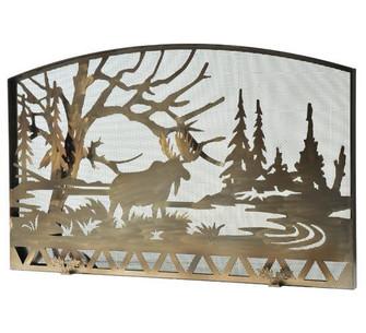 61''W X 38''H Moose Creek Fireplace Screen (96|111149)