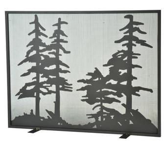 44''W X 33''H Tall Pines Fireplace Screen (96|111045)