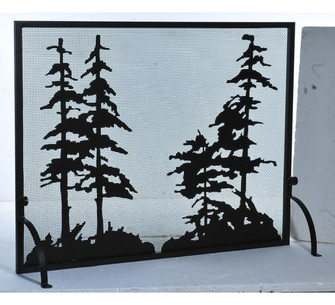 50'' Wide X 38'' High Tall Pines Fireplace Screen (96|109441)