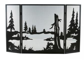 52''W X 32''H Quiet Pond Fireplace Screen (96|81150)