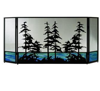 72''W X 32''H Tall Pines Fireplace Screen (96|81106)