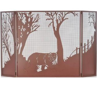 62'' Wide X 40'' High Bear at Dusk Fireplace Screen (96|71141)
