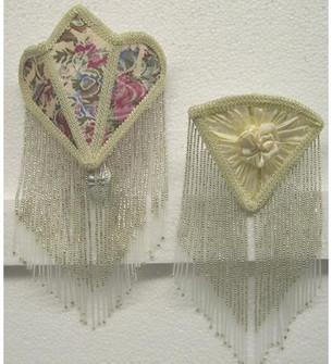 11''H Fabric & Fringe Floral Night Light (96|68563)