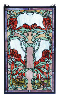 15''W X 25''H Nouveau Lily Stained Glass Window (96|65711)