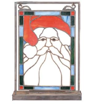 9.5''W X 10.5''H Santa Head Lighted Mini Tabletop Window (96|65250)