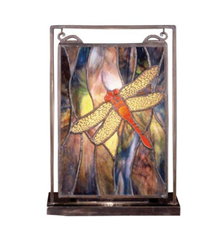 9.5''W X 10.5''H Dragonfly Lighted Mini Tabletop Window (96|56831)