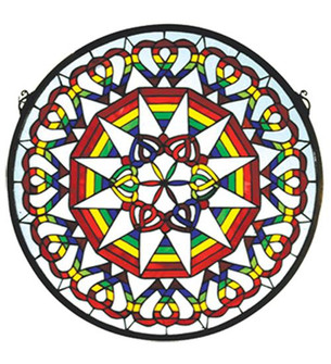 20''W X 20''H Rainbow Expression Medallion Stained Glass Window (96|51703)