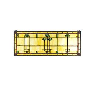35''W X 13''H Ginkgo Stained Glass Window (96|50825)