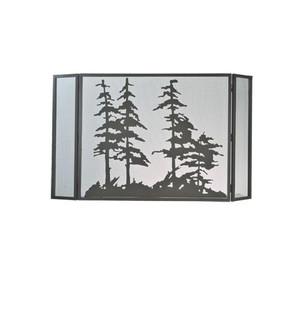 50''W X 30''H Tall Pines Fireplace Screen (96|99675)