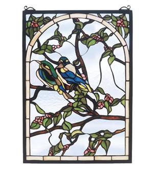 14''W X 20''H Lovebirds Stained Glass Window (96|47966)