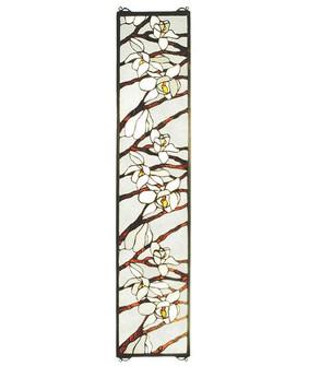 9''W X 42''H Magnolia Stained Glass Window (96|47887)