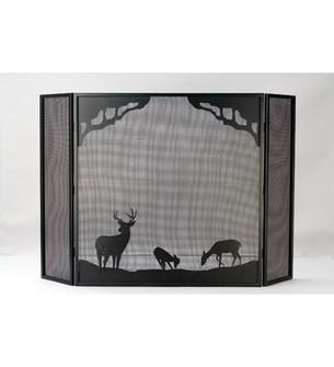 62''W X 40''H Deer at Dawn Fireplace Screen (96|38521)