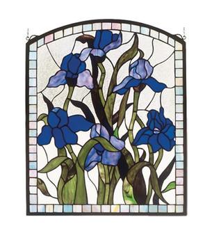 20''W X 24''H Iris Stained Glass Window (96|36074)