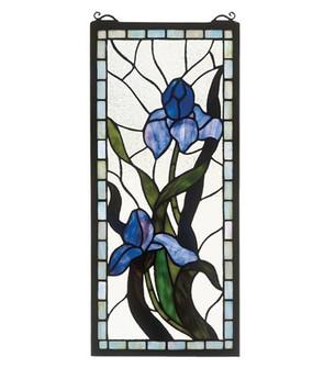 9''W X 20''H Iris Stained Glass Window (96|36073)