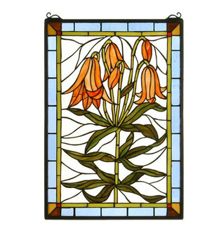 16'' Wide X 24'' High Trumpet Lily Stained Glass Window (96|32660)