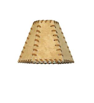 7''W X 5''H Faux Leather Tan Hexagon Shade (96 81145)