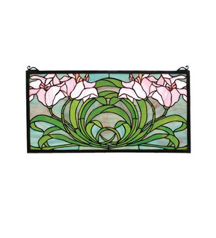 22''W X 11''H Calla Lily Stained Glass Window (96|79950)
