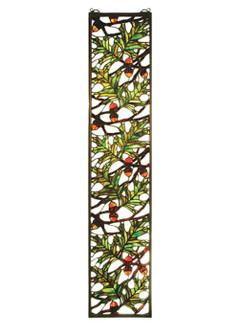9''W X 42''H Acorn & Oak Leaf Stained Glass Window (96|31267)
