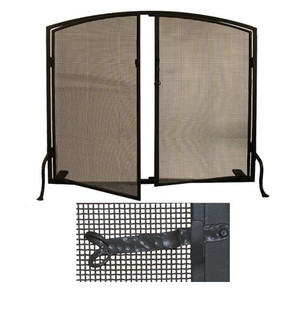 40''W X 32''H Prime Arched Fireplace Screen (96|29853)