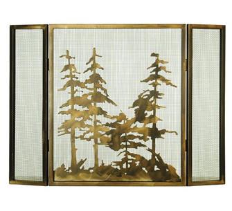 36''W X 26''H Tall Pines Fireplace Screen (96|68388)