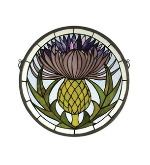 17''W X 17''H Thistle Stained Glass Window (96|28436)