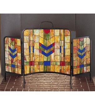 48''W X 31''H Prairie Wheat Fireplace Screen (96|27241)