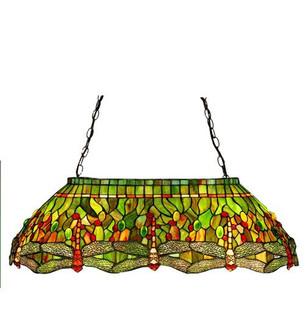 32''L Tiffany Hanginghead Dragonfly Oblong Pendant (96 26547)
