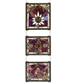 14''W X 39''H Solstice 3 Piece Stained Glass Window (96|24411)